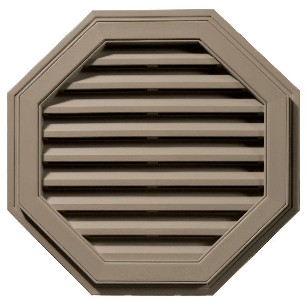 Builders Edge 27 in. Octagon Gable Vent in Clay