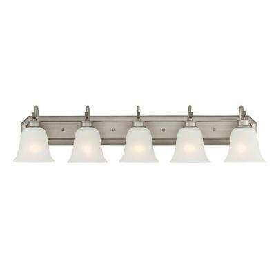 Montego 5-Light Matte Pewter Interior Incandescent Bath Vanity Light