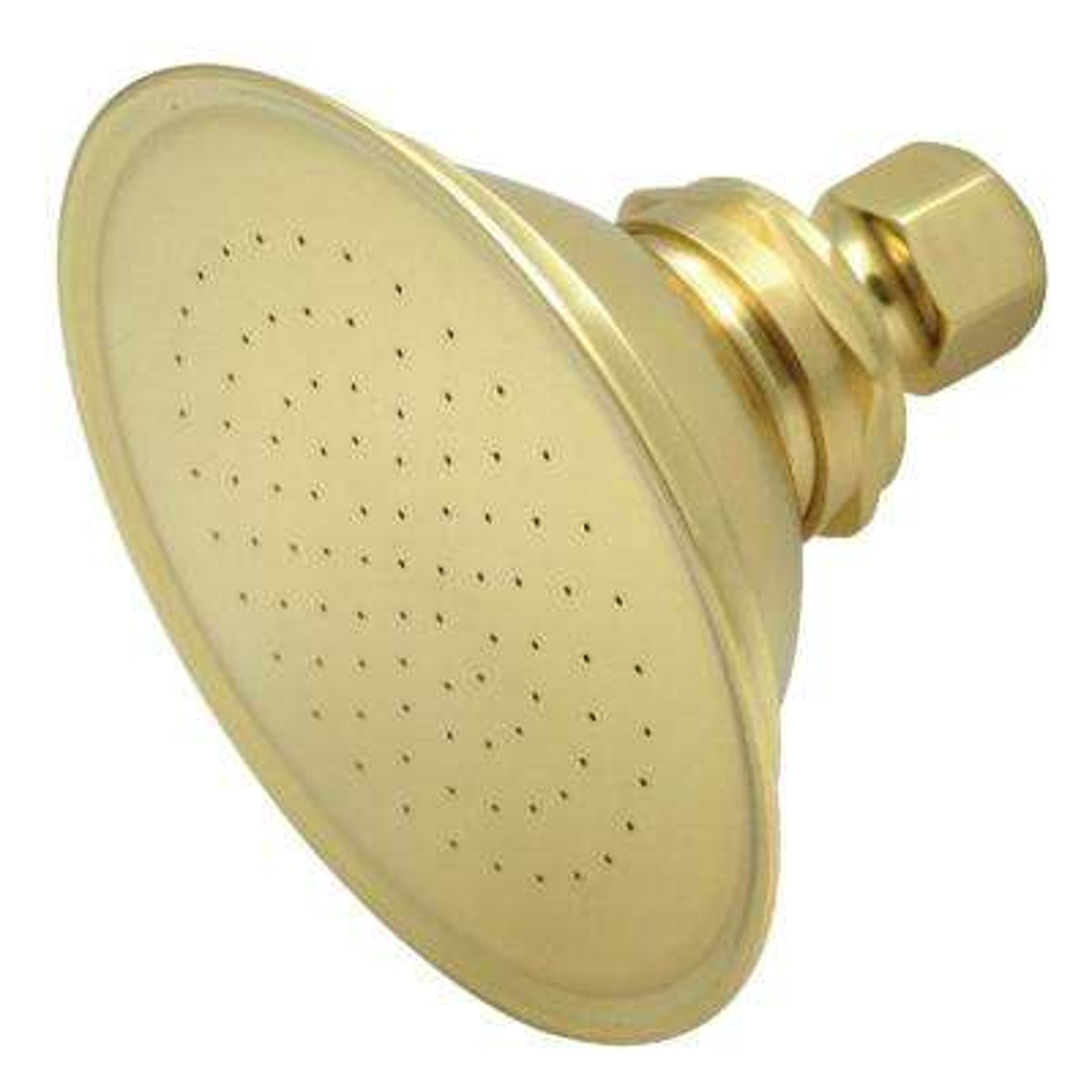 Victorian 1-Spray 5 in. Showerhead in Polished Brass
