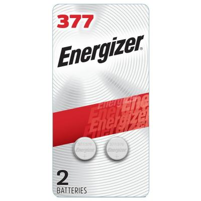 377 Batteries (2 Pack), 1.5V Silver Oxide Button Cell Batteries