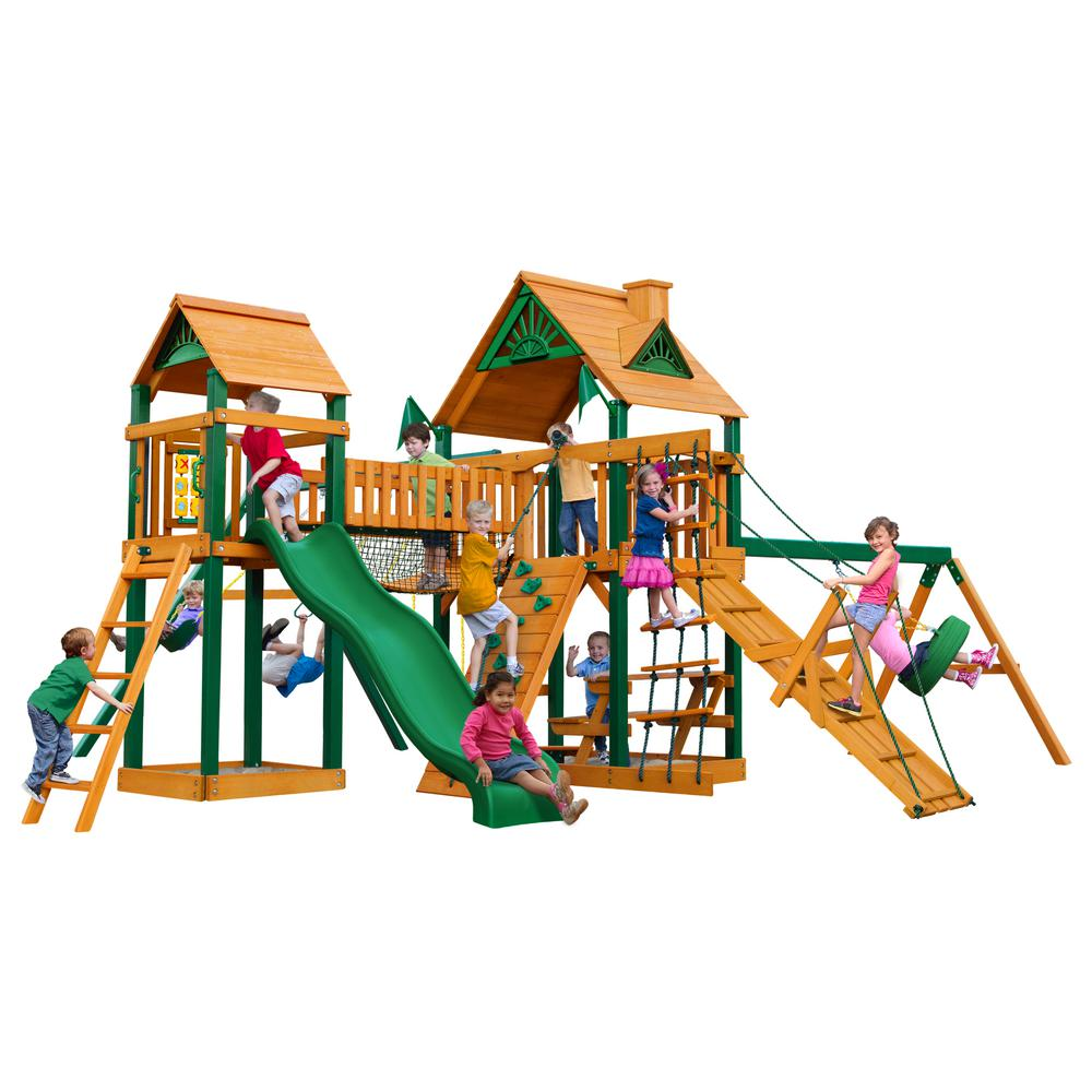 Pioneer Peak with Timber Shield Cedar Playset