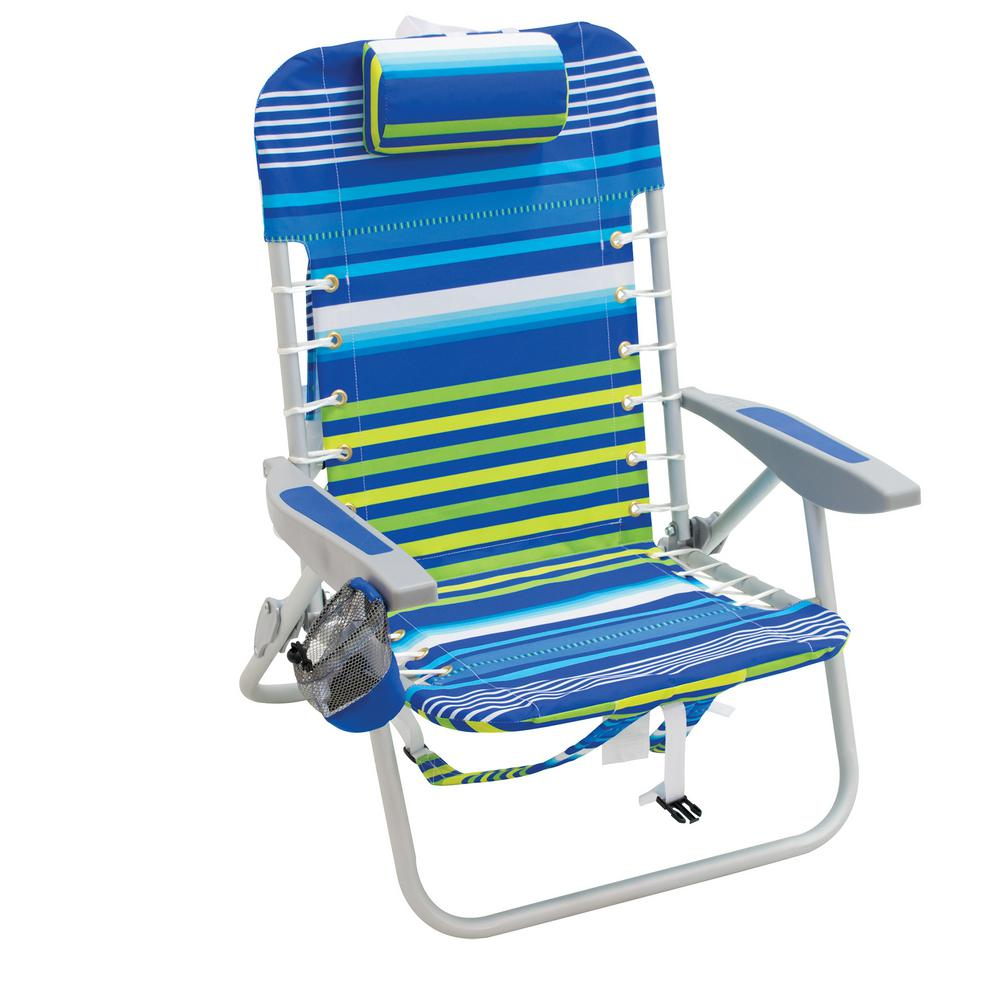 Rio Lace-Up Aluminum Beach Backpack Patio Lawn Chair-SC529