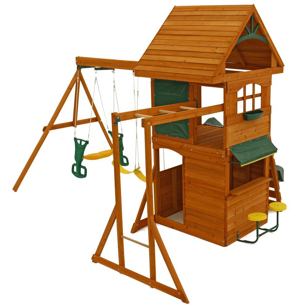 Big Backyard Ridgeview Club Deluxe Play Set - House Backyards