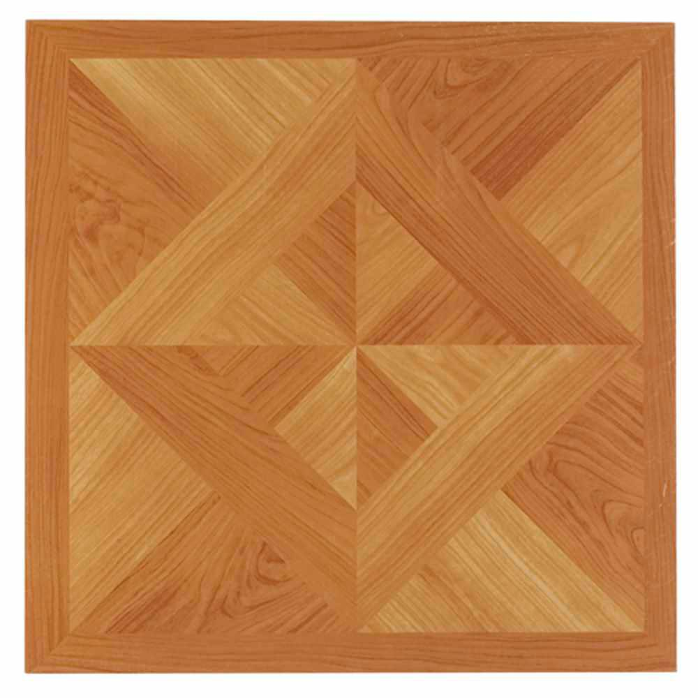 Nexus Light Oak 12 in. x 12 in. Peel and Stick