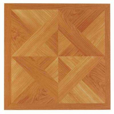 Tivoli Light Oak 12 in. x 12 in. Peel and Stick Diamond Parquet Vinyl Tile (45 sq. ft./case)