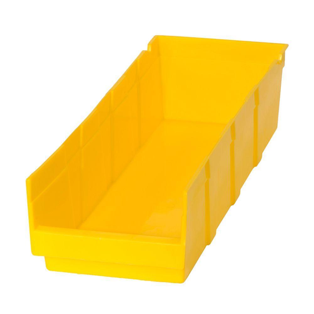 1.87-Gal. Heavy Duty Plastic Storage Bin in Yellow (24-Pack )