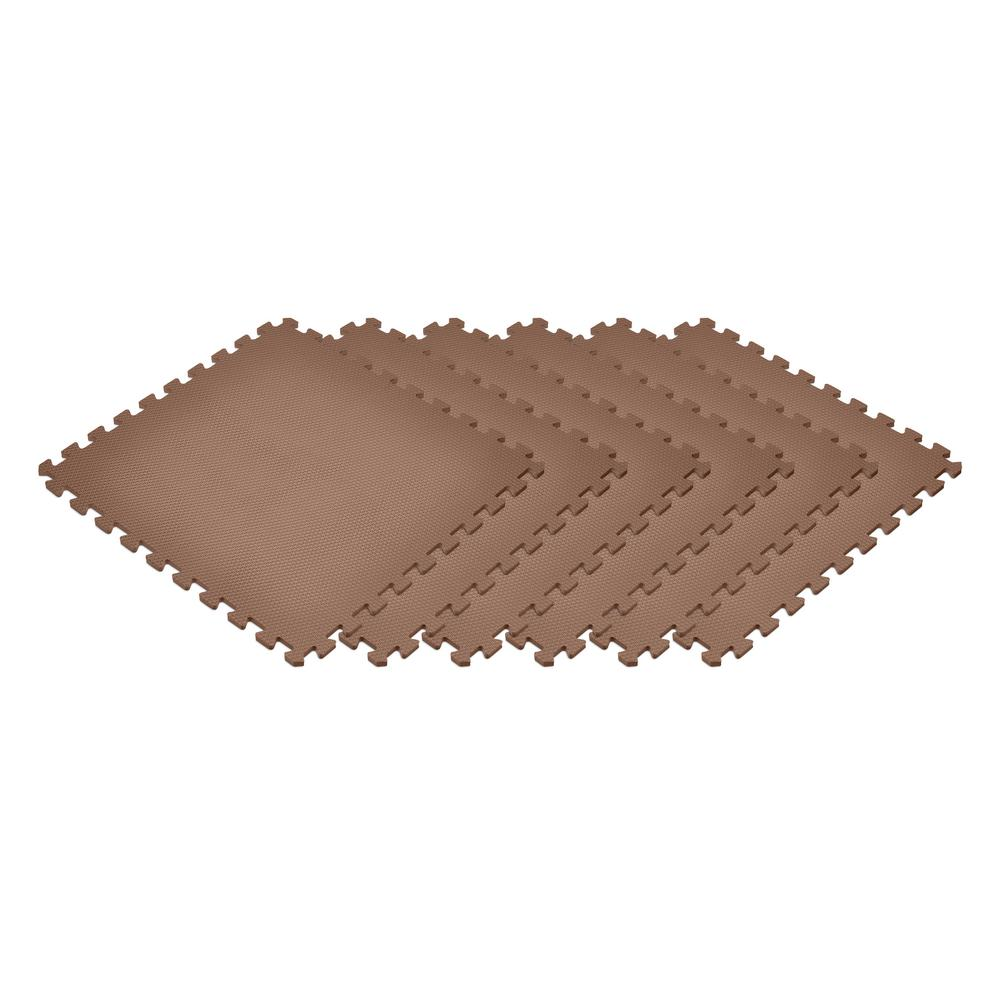 Brown 24 in. x 24 in. x 0.47 in. Foam Interlocking