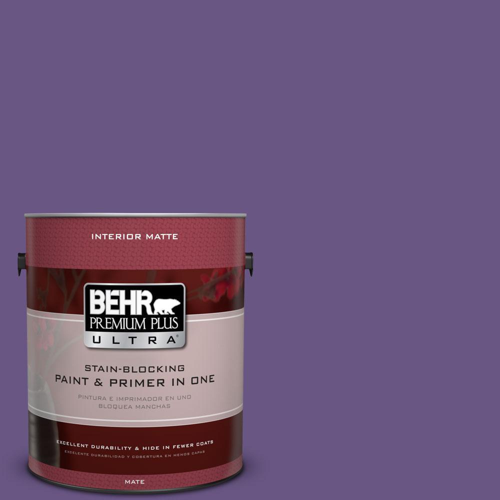 BEHR Premium Plus Ultra 1 gal. #PPU16-2 Vigorous Violet Flat/Matte Interior Paint