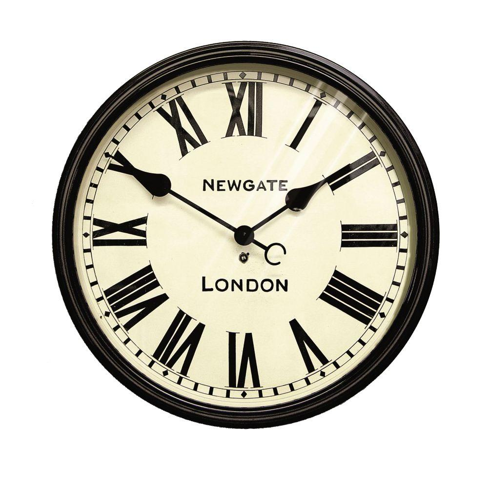 Home Decorators Collection 17.25 in. Round Metal Battersby Wall Clock