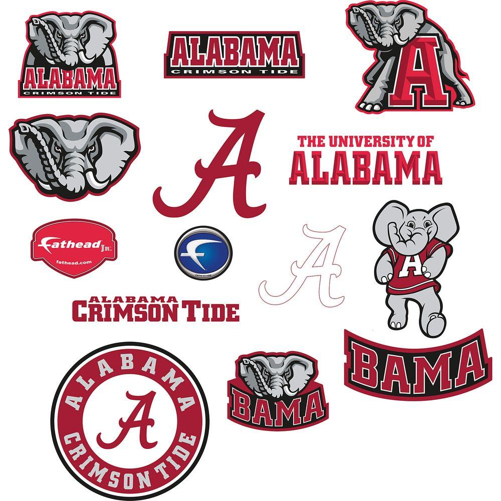 Fathead Alabama Logo Sheet Wall Decal