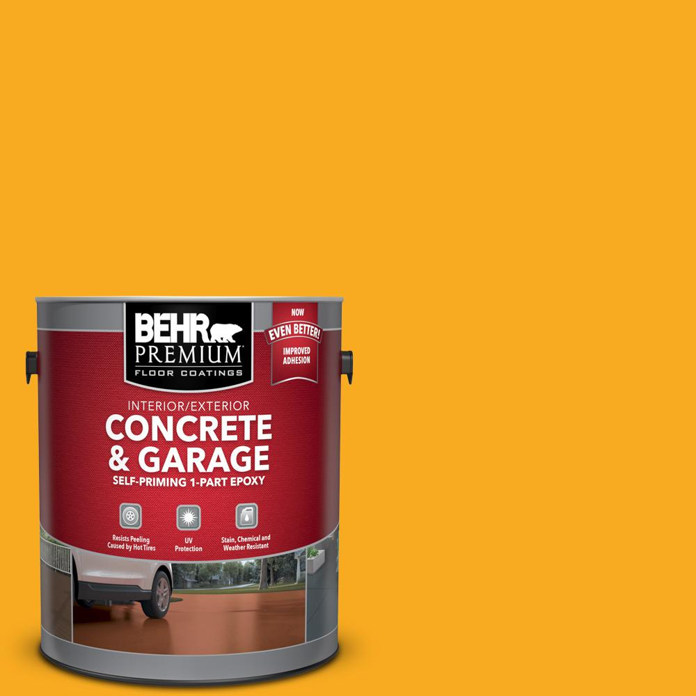 BEHR Premium 1 gal. #P270-7 Sunny Side Up Self-Priming 1-Part Epoxy Satin Interior/Exterior Concrete and Garage Floor Paint