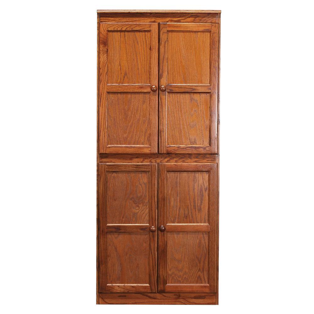 Multi-Use Storage Pantry in Dry Oak