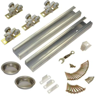 100SD Series 48 in. Track and Hardware Set for 2-Door Bypass Doors