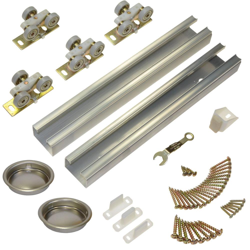 Johnson Hardware 100SD Series 60 in. Track and Hardware Set for 2-Door Bypass Doors