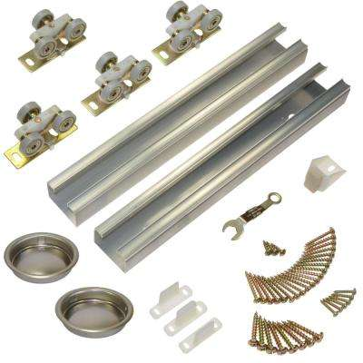 100SD Series 96 in. Track and Hardware Set for 2-Door Bypass Doors
