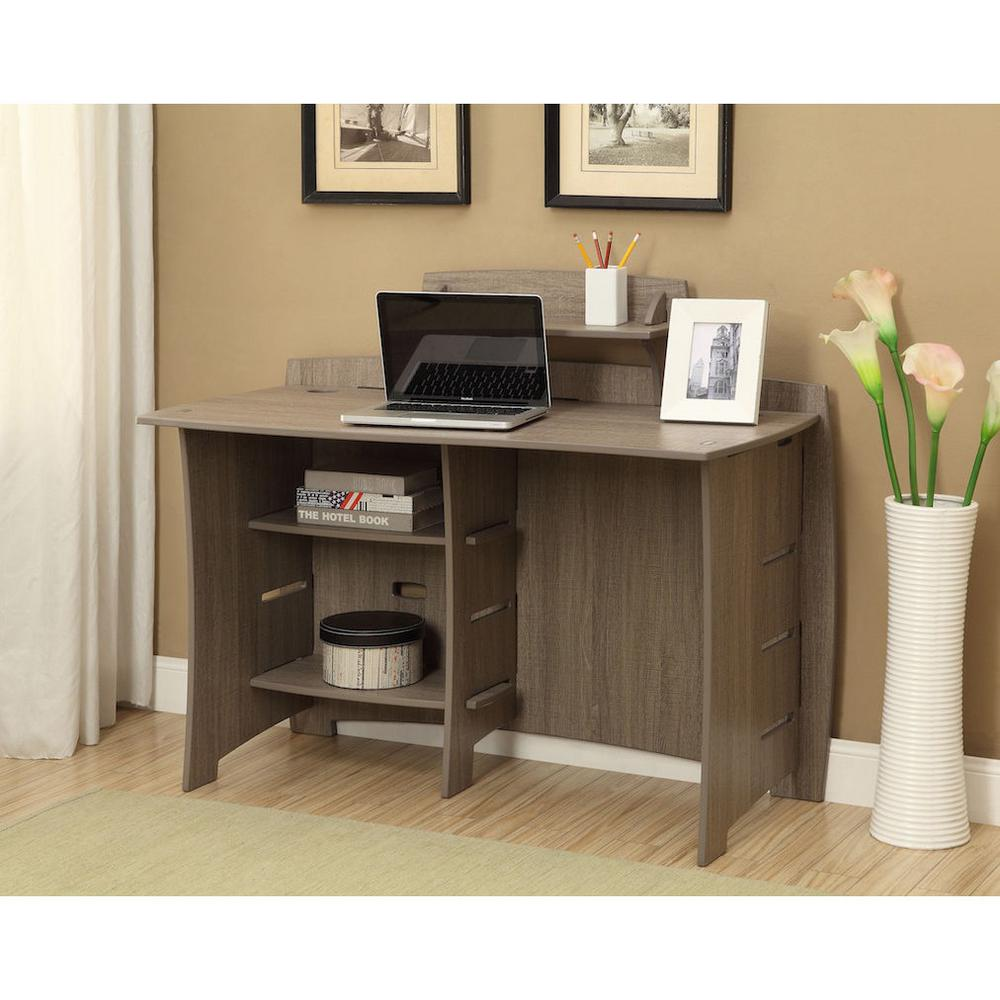 Office Desk Furniture For Home better homes and gardens computer desk brown oak walmartcom Office Desk 29 In Accessory Shelf In Grey Driftwood