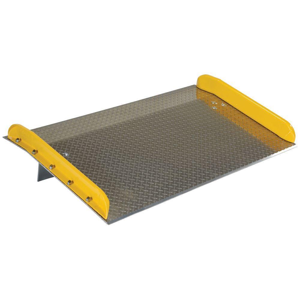 Vestil 20,000 lb. Capacity 60 in. x 36 in. Aluminum Dock Board with Steel Curb