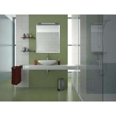 Rectangular Brushed Silver Aluminum Vanity Wall Mirror