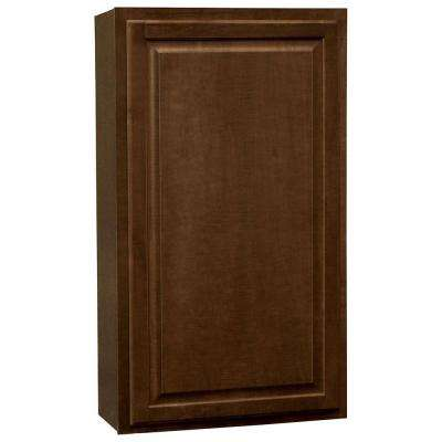 Hampton Assembled 24x42x12 in. Wall Kitchen Cabinet in Cognac