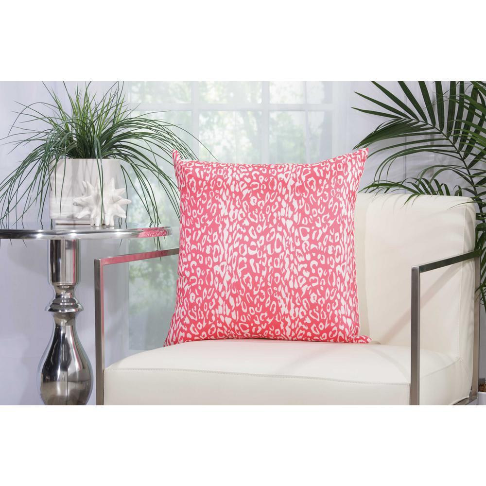 Leopard Hot Pink Polyester Standard Throw Pillow