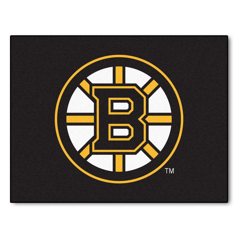 NHL Boston Bruins Black 3 ft. x 4 ft. Indoor All