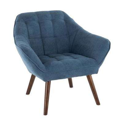 Boulder Blue Upholstered Arm Chair