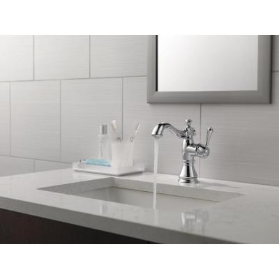 Cassidy Single Hole Single-Handle Bathroom Faucet with Metal Drain Assembly in Chrome