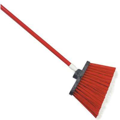 Sparta Spectrum 56 in. Duo-Sweep Angle Broom with Un-Flagged Bristle in Red (Case of 12)