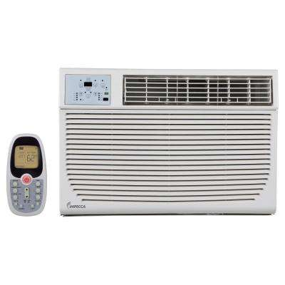 12,000 BTU 230-Volt/208-Volt Window Air Conditioner with Cool, Supplemental Heat and Remote