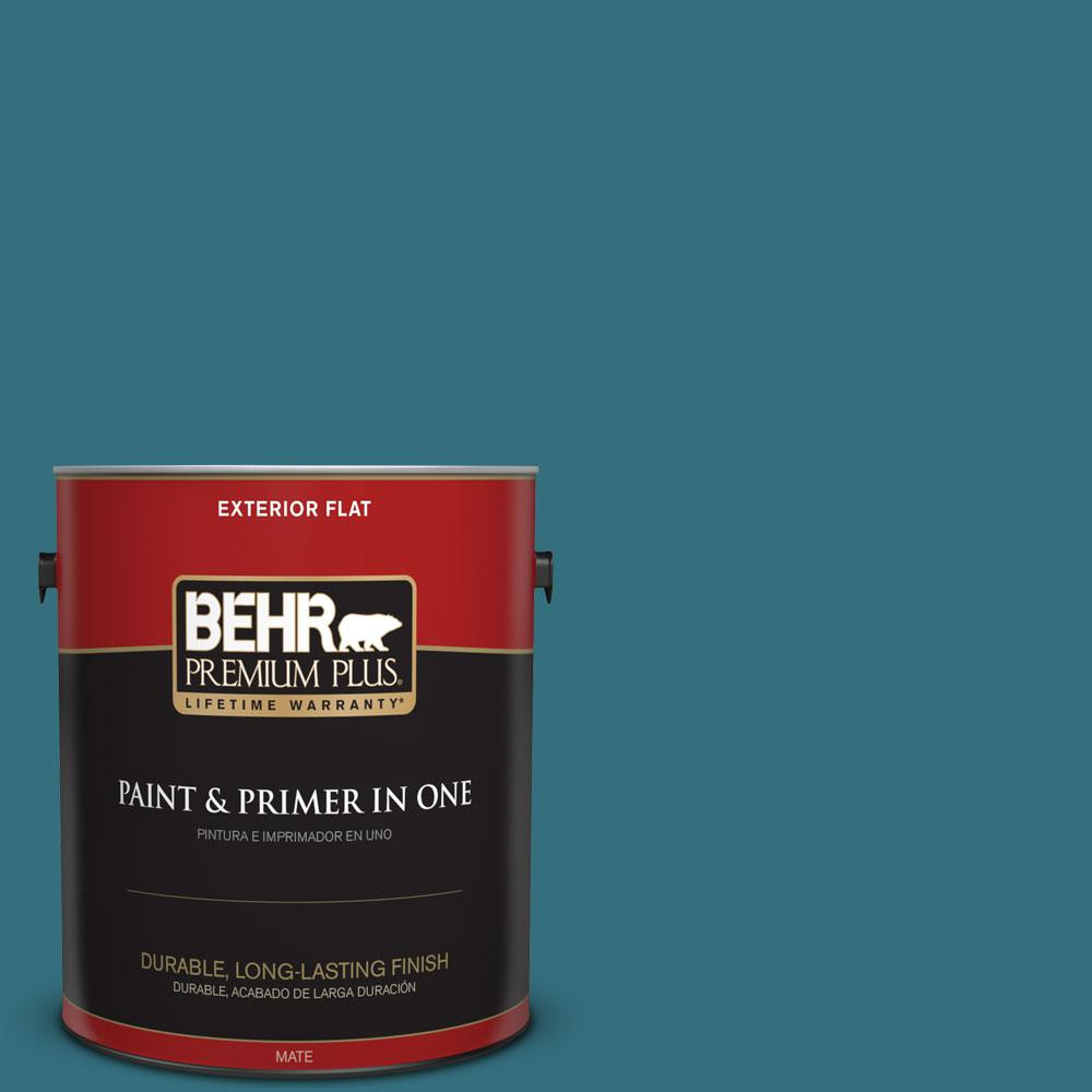 BEHR Premium Plus 1-gal. #530D-7 Grand Rapids Flat Exterior Paint