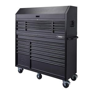 Husky 56 inch 23-Drawer Tool Chest and Rolling Cabinet Set, Textured Black Matte by Husky