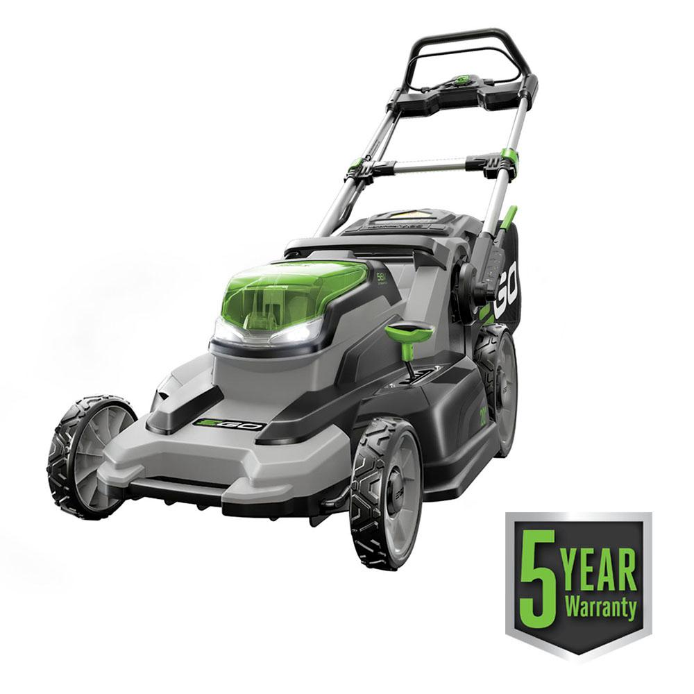 EGO 20 in. 56-Volt Lithium-ion Battery Electric Start Walk Behind Push Mower Kit - 7.5 Ah Battery/Charger Included