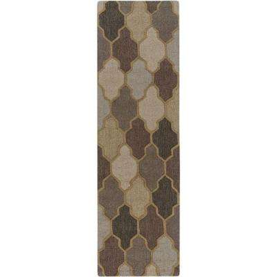Pollack Morgan Gray 2 ft. x 10 ft. Indoor Runner Rug
