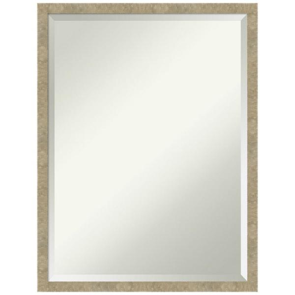 Amanti Art Jet 19 38 In X 25 38 In Casual Rectangle Framed Light Gold Bathroom Vanity Mirror Dsw5343027 The Home Depot
