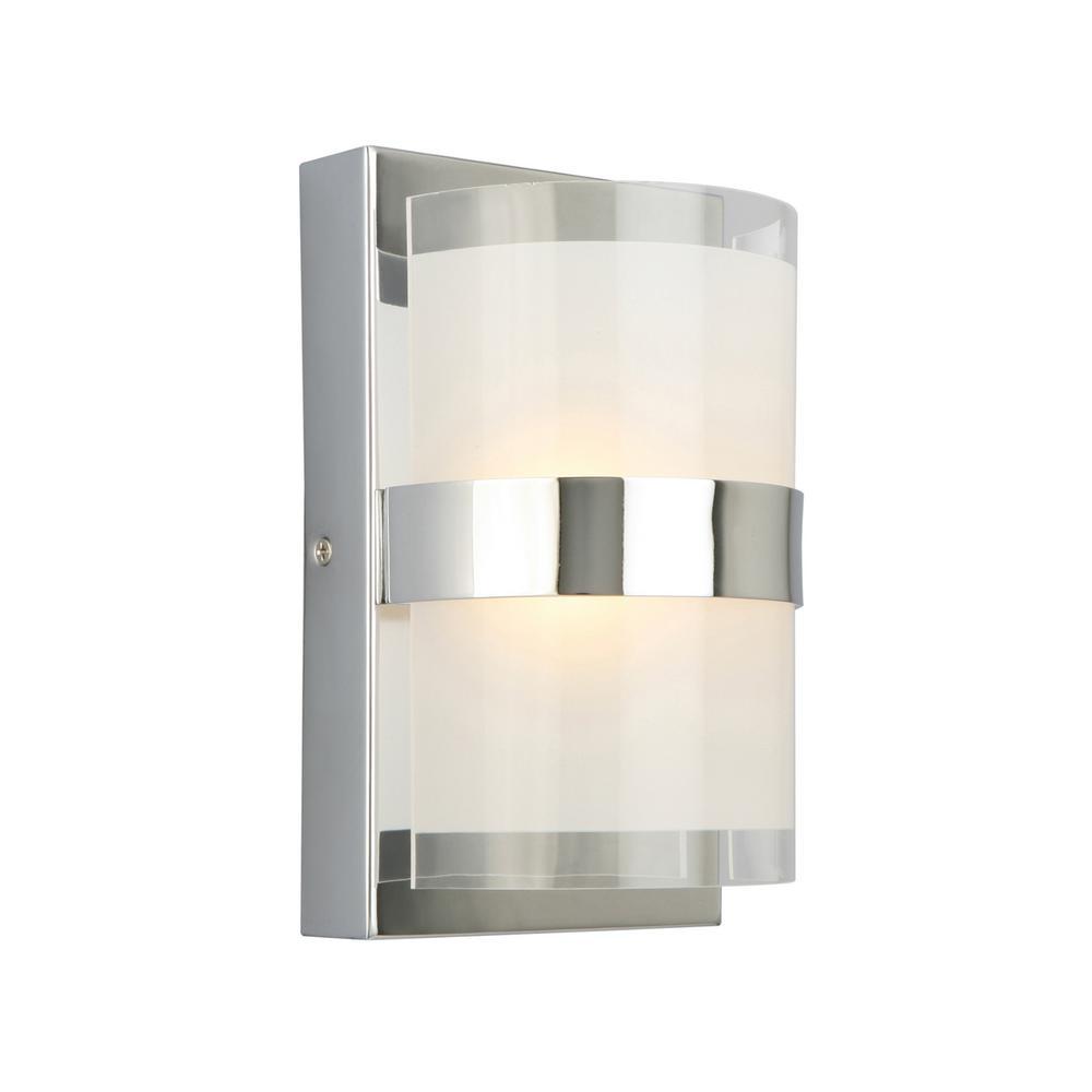 Design House Haswell 6 Watt Polished Chrome Integrated Led Wall