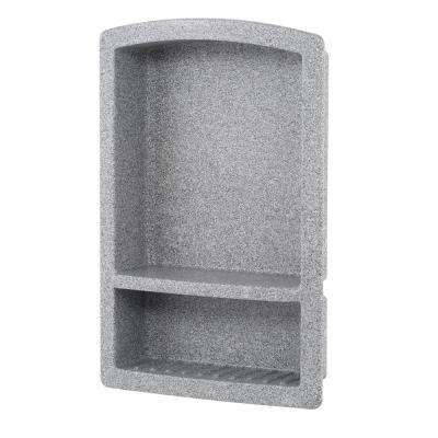 Recessed Solid Surface Soap Dish in Gray Granite