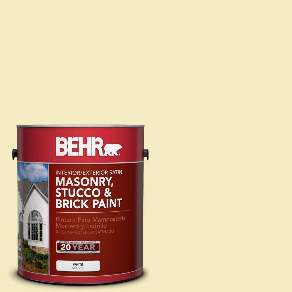 1 gal. #MS-34 Vanilla Satin Interior/Exterior Masonry, Stucco and Brick Paint