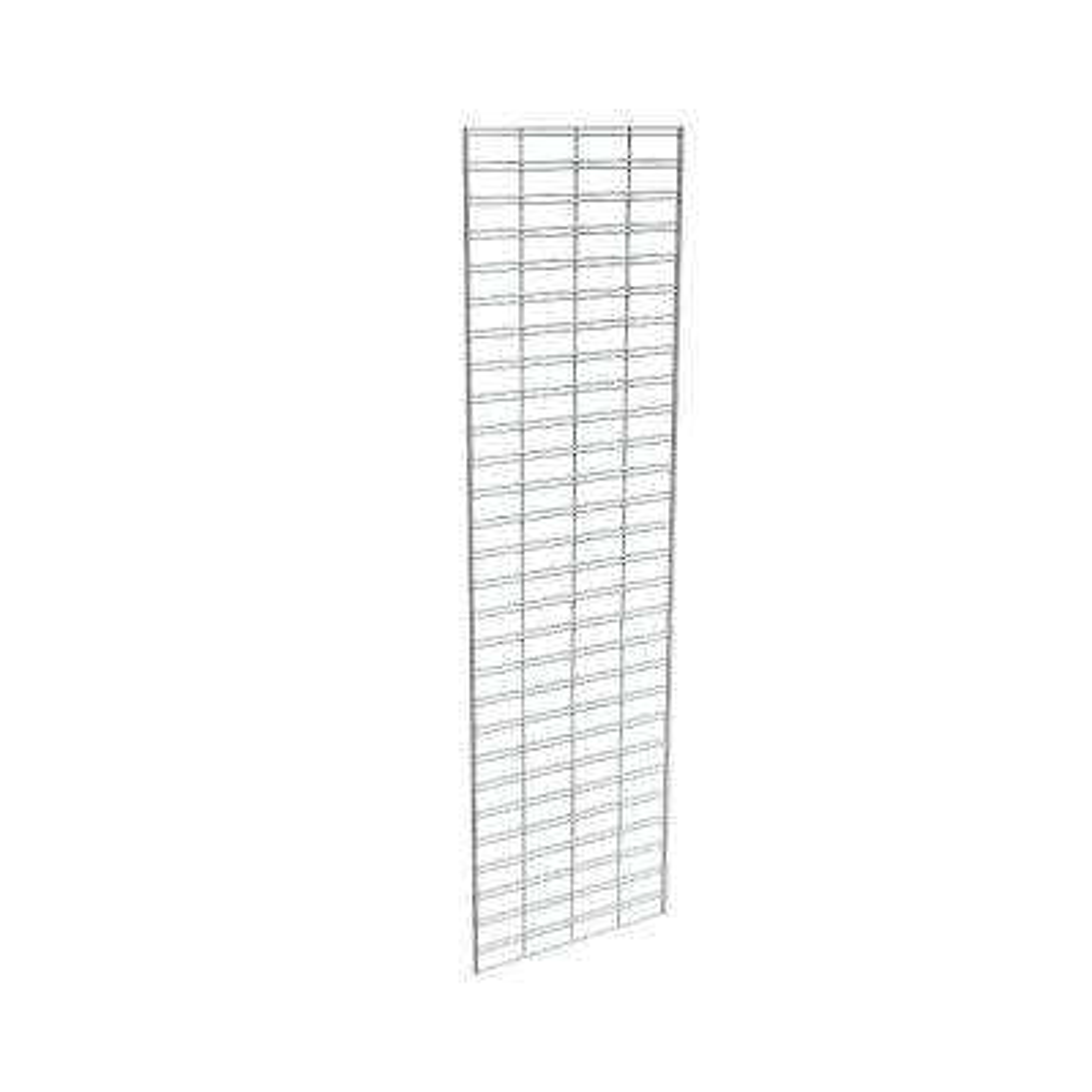 84 in. H x 24 in. L Chrome Metal Slatgrid Wall Panel Set (3-Pack)