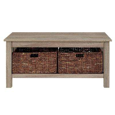 Stanford Driftwood Storage Coffee Table