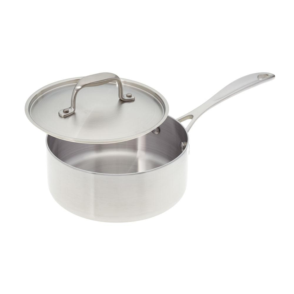 American Kitchen 2 Qt Premium Stainless Steel Sauce Pan With Cover Ak002 Sp The Home Depot