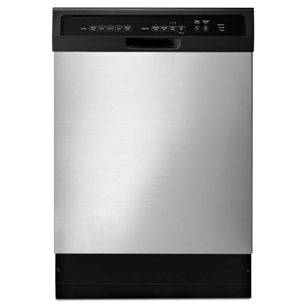 Whirlpool Front Control Dishwasher in Stainless Steel with Stainless Steel Tub