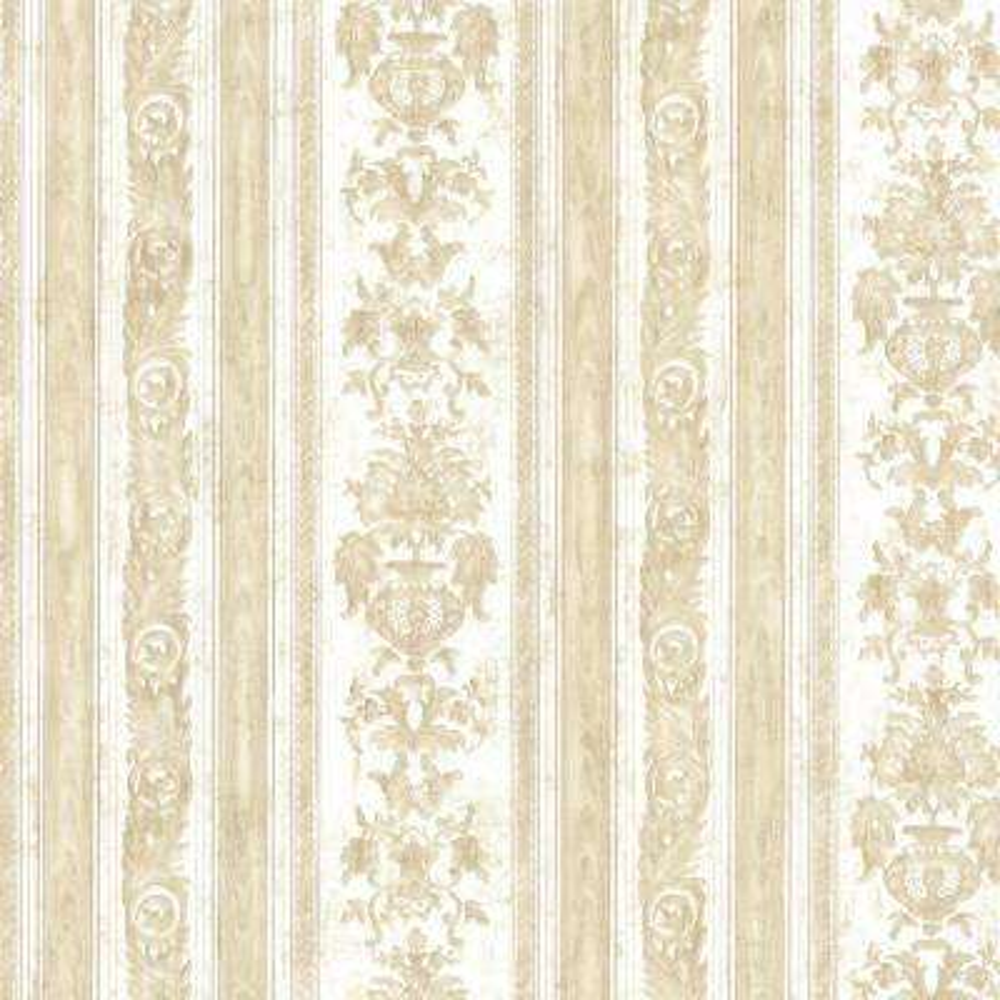 Majesty Beige Damask Stripe Wallpaper