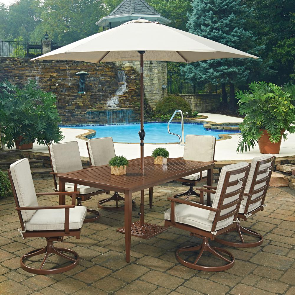 Home Styles Key West Chocolate Brown 9 Piece Extruded