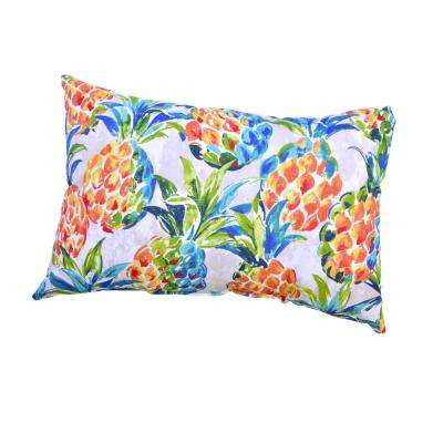 Pineapples Outdoor Lumbar Pillow