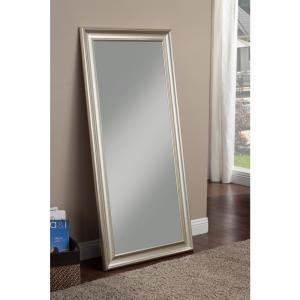 Champagne Silver Full Length Leaner Floor Mirror by