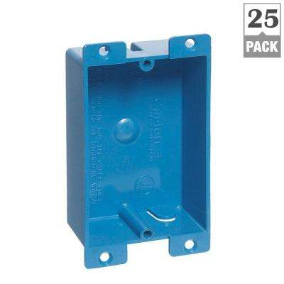 1-Gang 8 cu. in. Blue PVC Flanged Shallow Old Work Electrical Box (Case of 25)