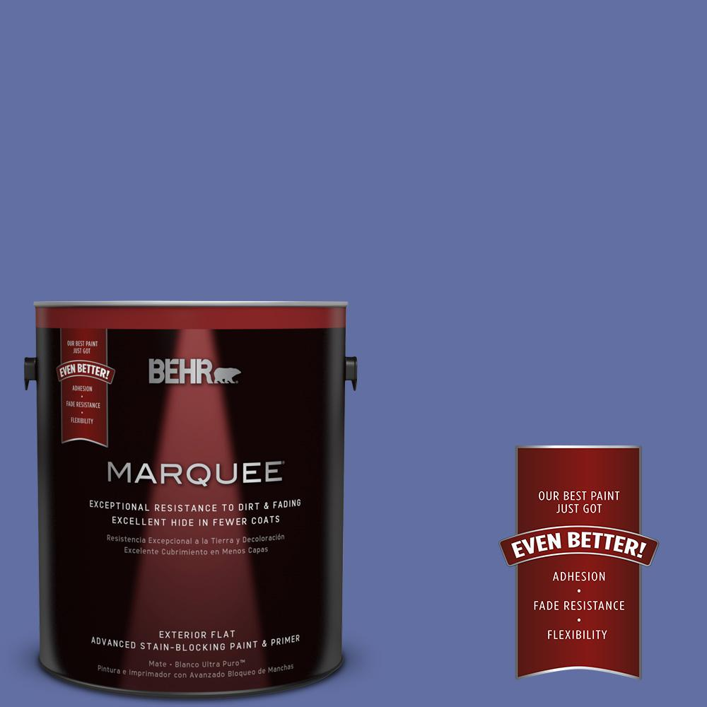 1-gal. #610B-6 Stained Glass Flat Exterior Paint
