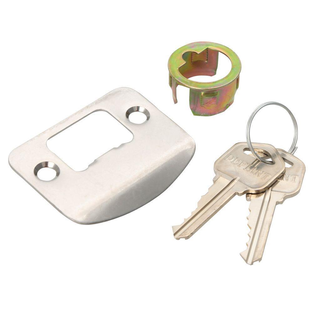 Keyed Entry Door Knob Satin Nickel Adjustable Backset Easy
