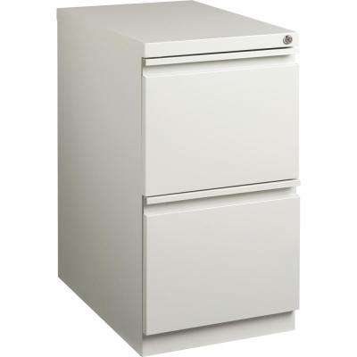 2-Drawer Light Gray Mobile File Pedestal with Security Lock