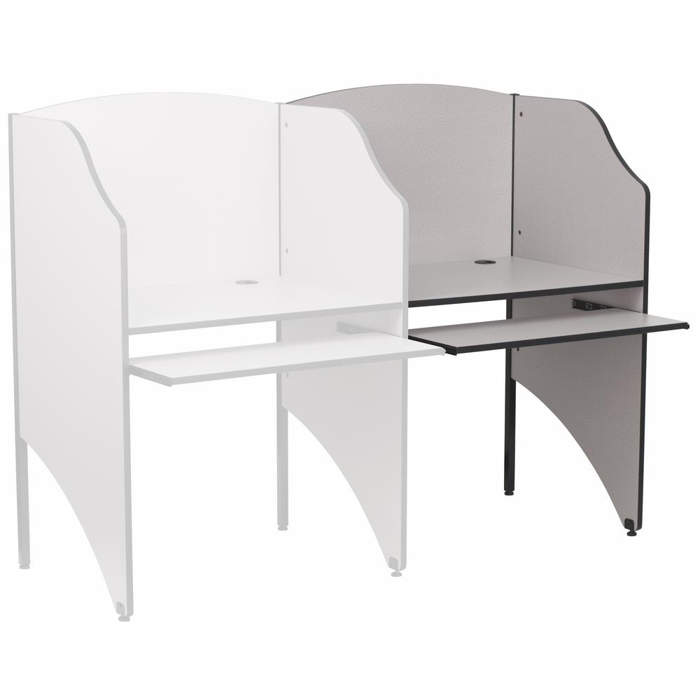 Flash Furniture Nebula Grey Finish AddOn Study Carrel